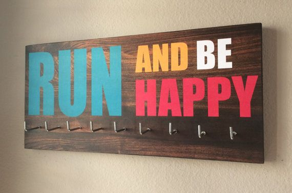 Race medal holder run and be happy race medal holder medal race medal holder run and be happy by runningbythesea on etsy publicscrutiny Choice Image