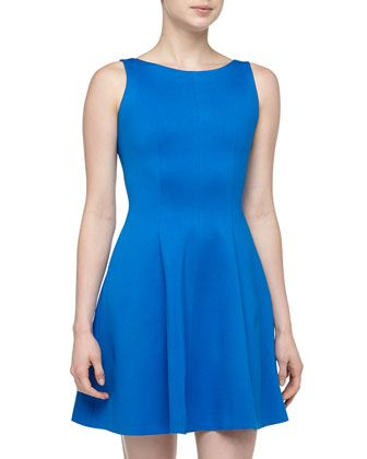 Cutout Back Fit-And-Flare Dress, Athens Blue by Rachel Roy at Neiman Marcus Last Call.
