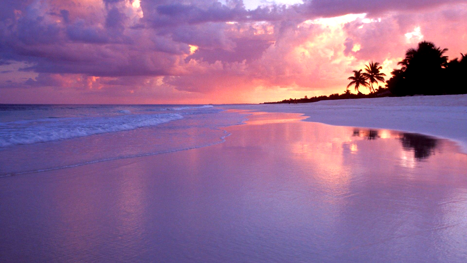 Beautiful Beach Sunset Wallpaper 1920x1080, Beautiful