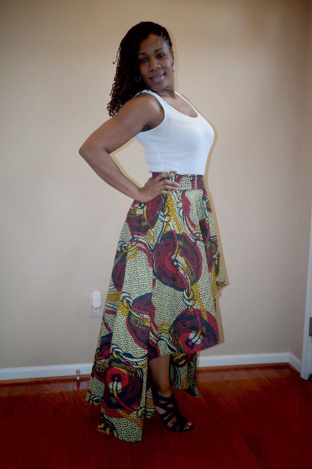 DIY Ankara High Low Circle Skirt | Sewing files | Pinterest