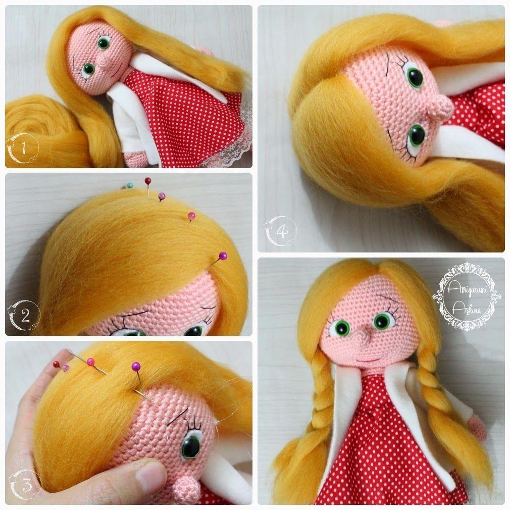 pelo muñeca amigurumi | ganchillo | Pinterest | Muñeca amigurumi ...