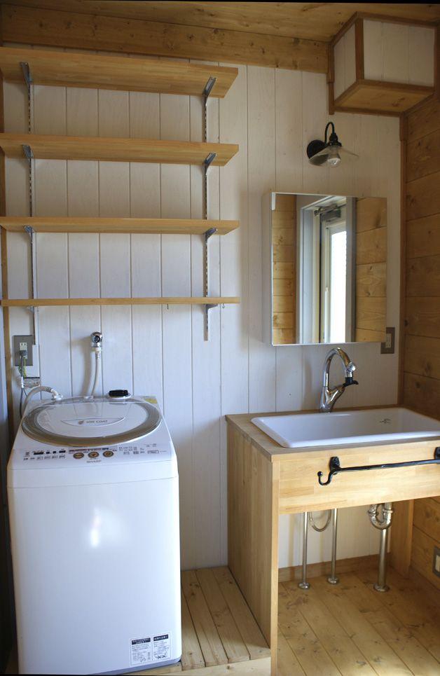 カラマスさんの洗面所 無印良品の家 リフォーム バスルーム 洗面所