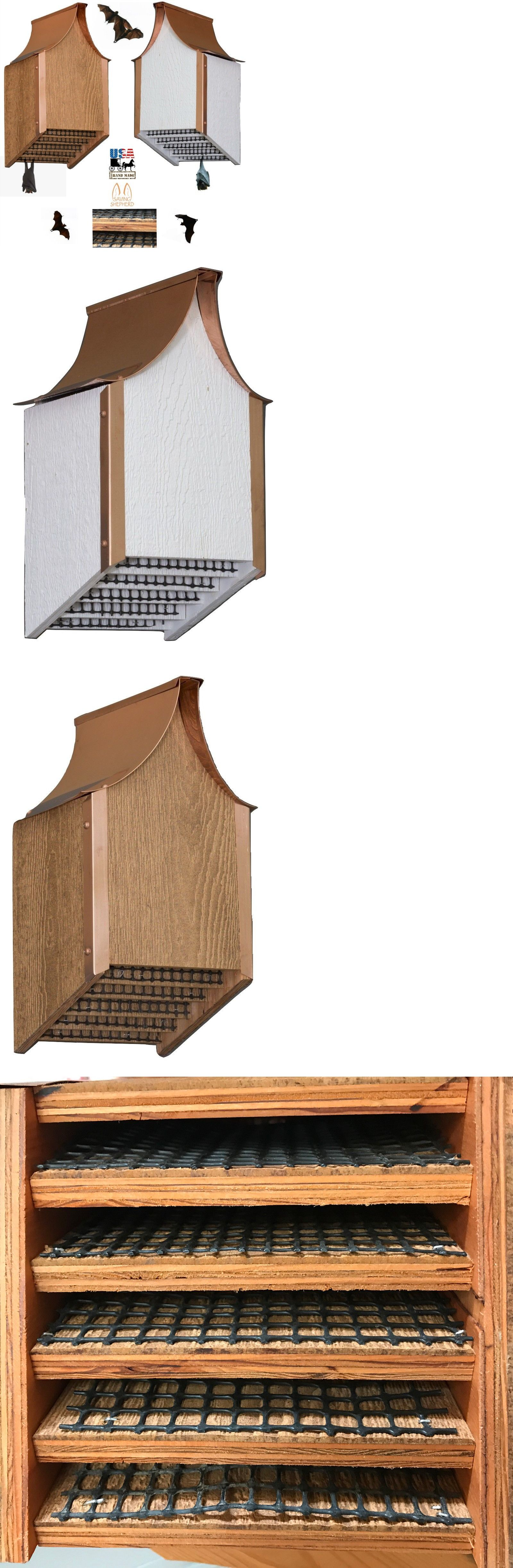 Bat And Erfly Houses 43532 Copper Roof House Amish Backyard Mosquito Control White Cedar Finish Usa It Now Only 139 97 On Ebay