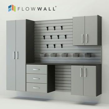 Flow Wall 5 Piece Garage Cabinet Storage System 999 Through 8 24 While