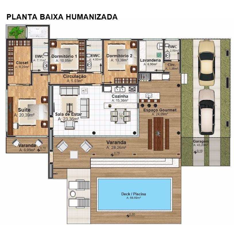 Casa camboriu para balneario ou campo com 3 quartos e for Plantas para piscinas
