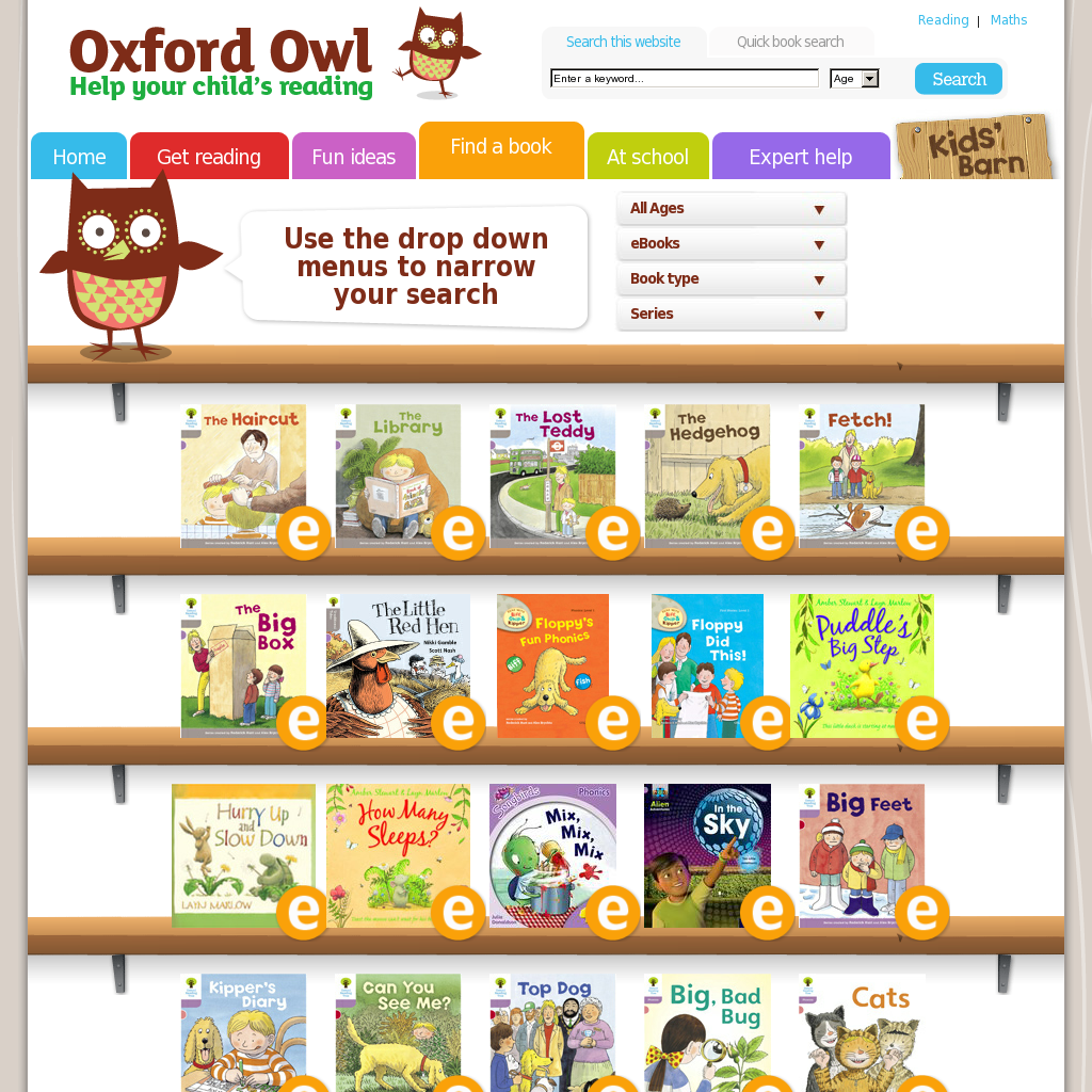 The Oxford Owl Has Lots Of Free Ebooks To Use With