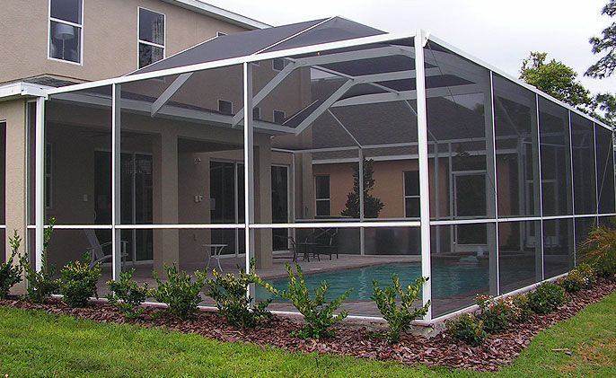 Southern Aluminum Has Over 19 Years Experience In Building And Installing Pool Enclosures And Sc Swimming Pool Enclosures Pool Enclosures Pool Screen Enclosure
