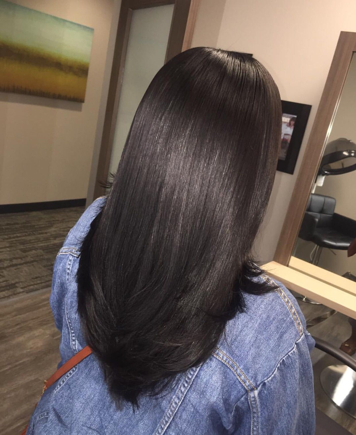 pinterest; @davinamarieeee | straight hair in 2019 | long