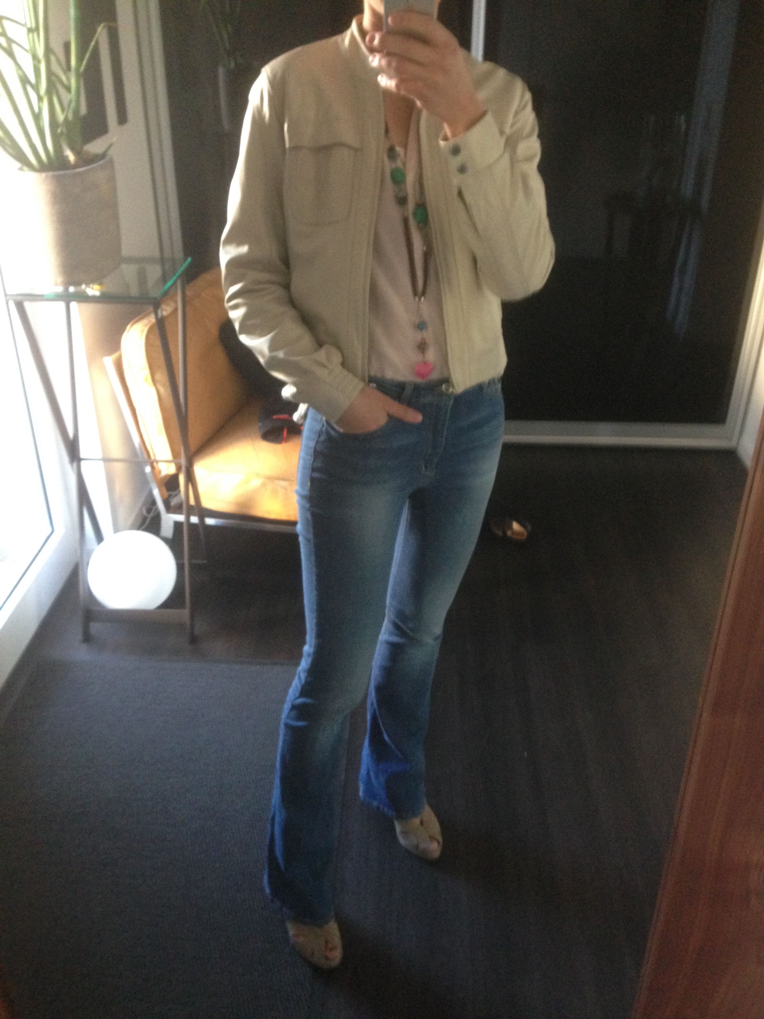 Vintage leather jacket by #hallhuber, jeans by #mango