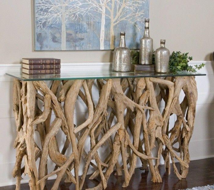 treibholz basteln tisch aus holz glasschale dekorationen gruene pflanze bild buecher ideen und. Black Bedroom Furniture Sets. Home Design Ideas