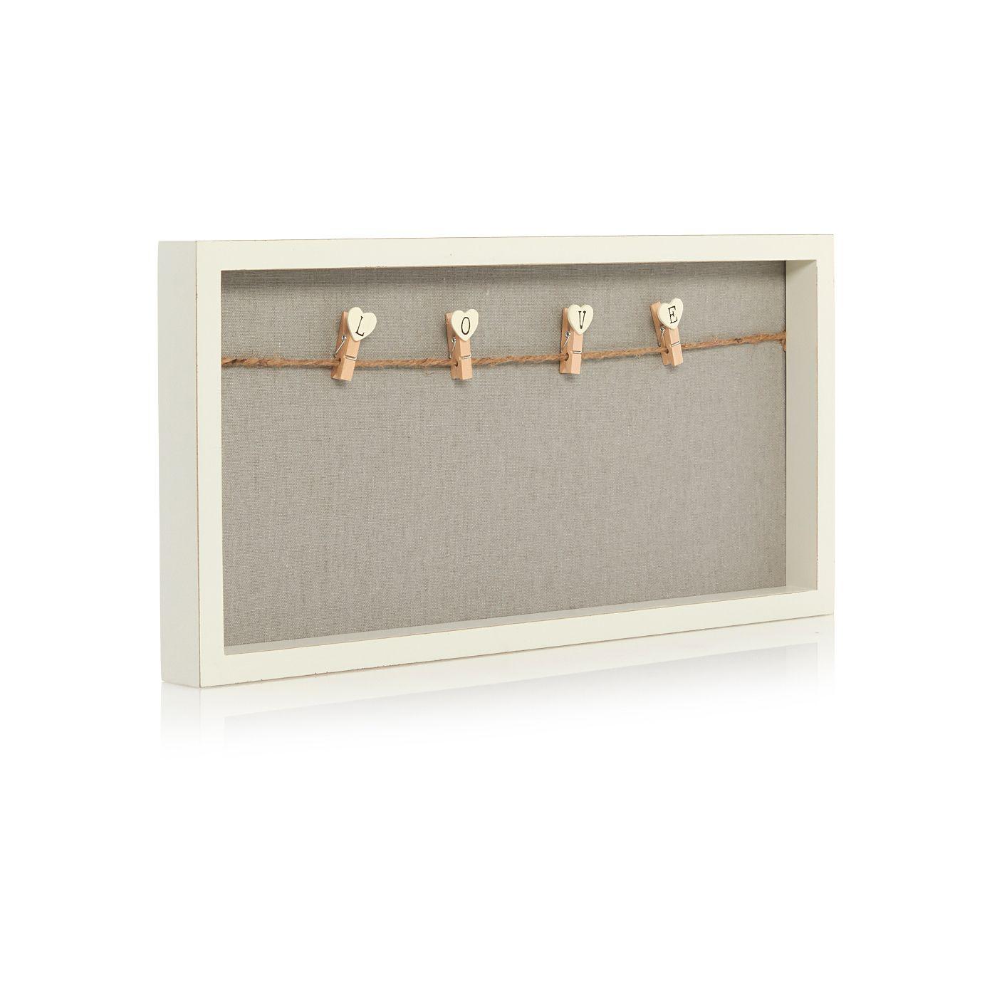 love pegs photo frame home decor frame 3d frames asda. Black Bedroom Furniture Sets. Home Design Ideas