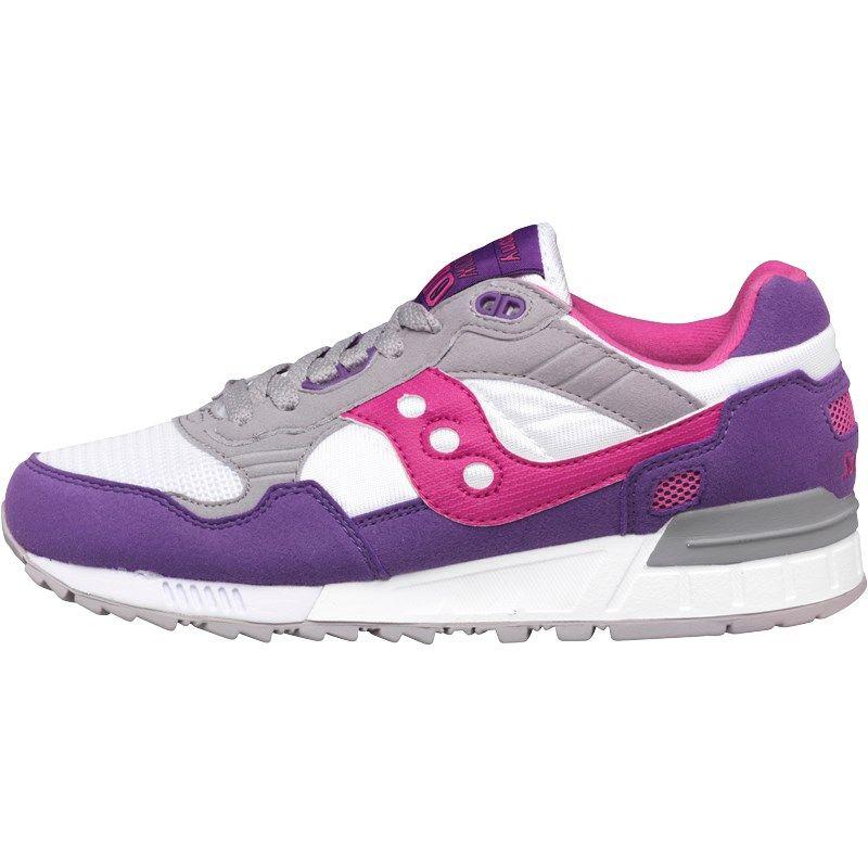 Saucony Womens Shadow 5000 Trainers White/Purple