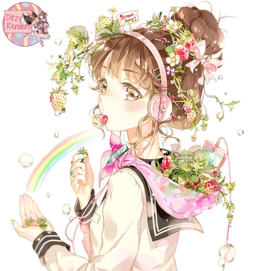 Strawberry Girl (by Starpri) Render by ditzydaffy on @DeviantArt ...