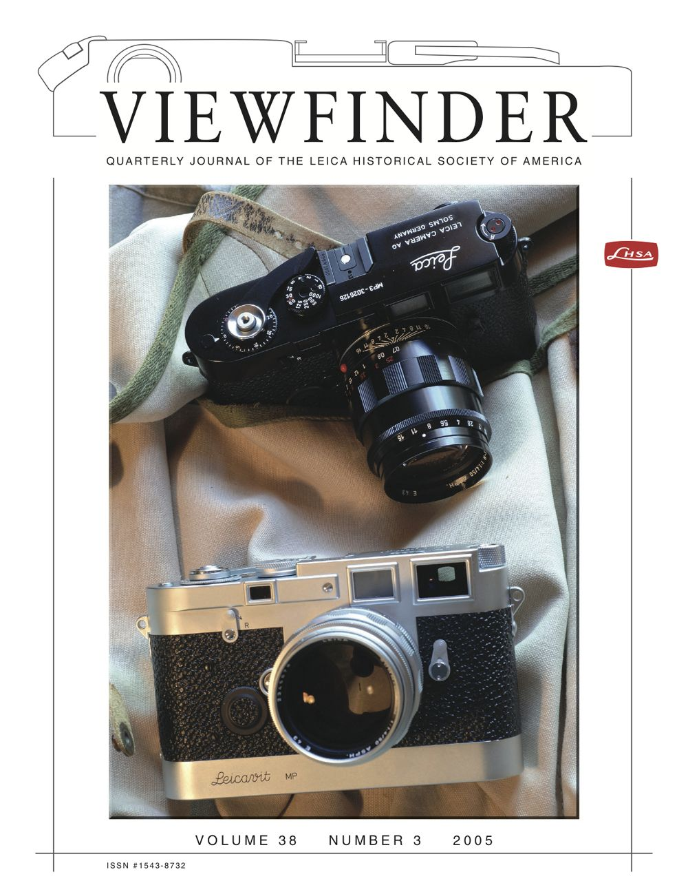 Fall 2005 Viewfinder Cover Announcing The Lhsa Mp3 Set