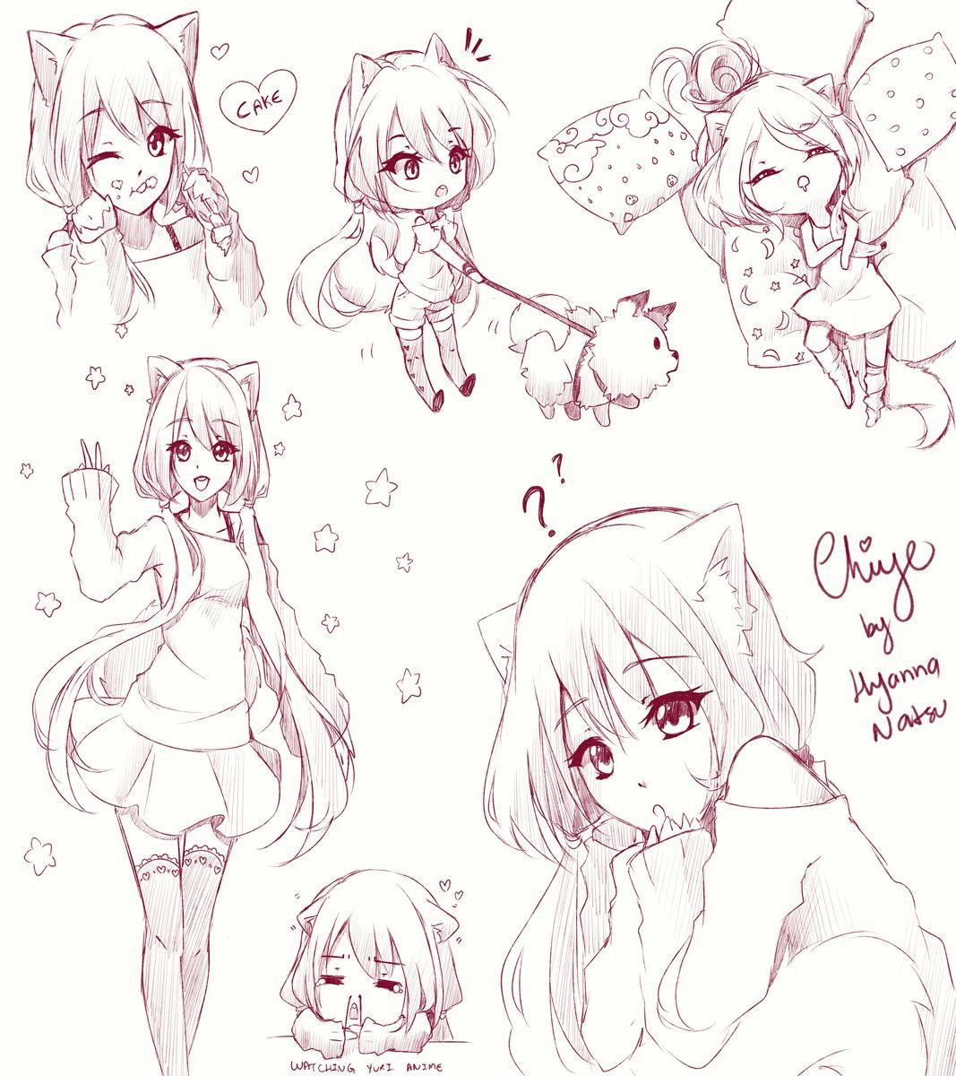 Yo Yo Chiye By Hyanna Natsu Anime Drawings Tutorials Anime Drawings Sketches Anime Sketch
