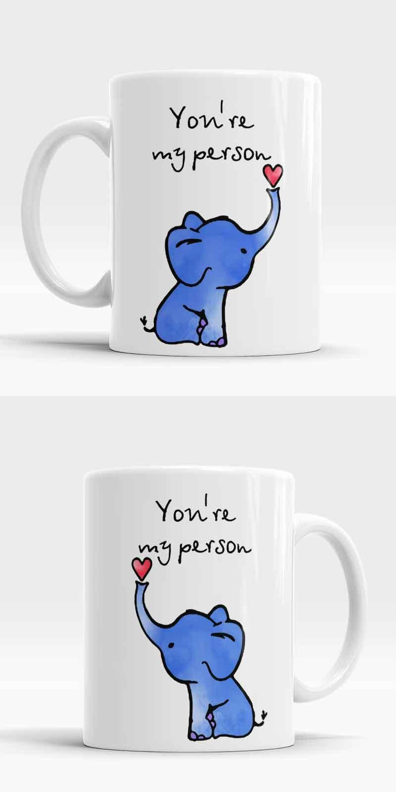Visit To Buy Greys Anatomy You Are My Person Elephant Mugs Office