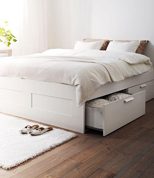 Tweepersoonsbed Ikea Lit Rangement Lit Tiroir Lit Brimnes