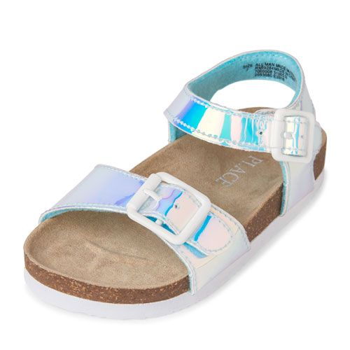 458d0f7a3937 Toddler Girls Holographic Luna Sandal