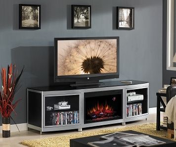 Gotham Entertainment Wall Units Fireplace Credenza Leon S