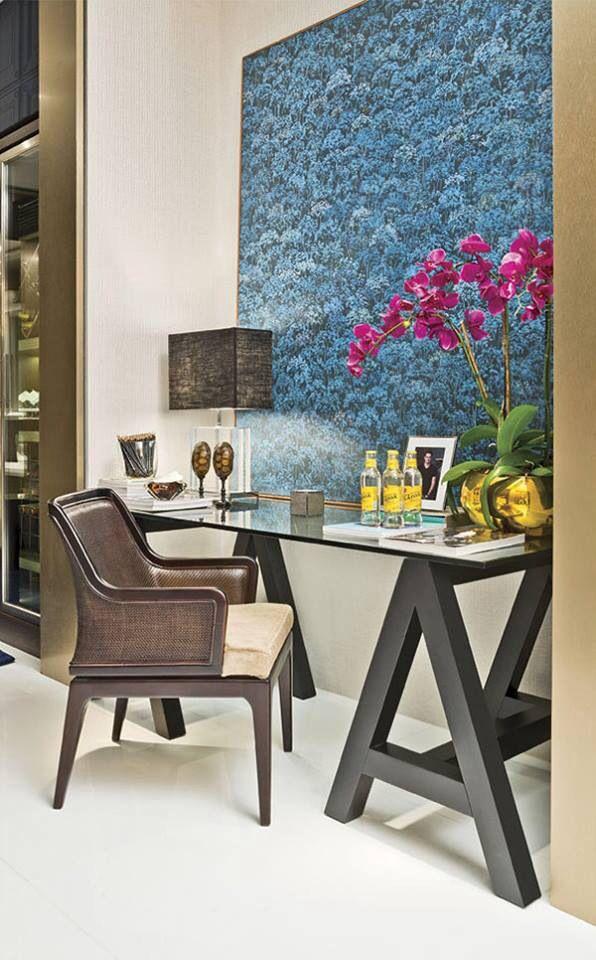Mesa con caballete depa pinterest dise o interiores casas decoraci n hogar y muebles - Mesa con caballetes ...