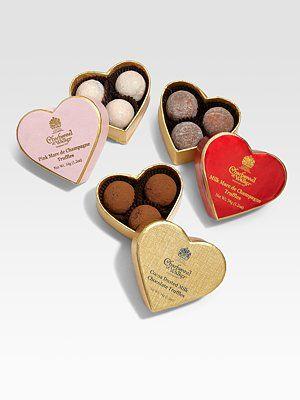 Charbonnel et Walker Mini Heart BoxedTruffle Trio | Charbonnel et walker. Mini heart. Heart box