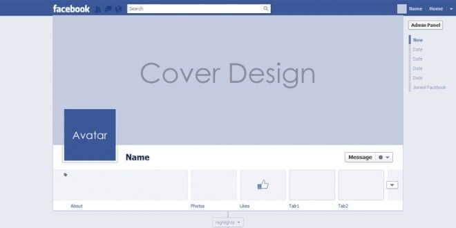 Free psd facebook timeline cover template freebies pinterest free psd facebook timeline cover template pronofoot35fo Images