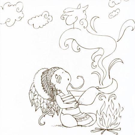 Cahier de coloriage Cap Canaille Eliott l\'indien - 80 pages ...