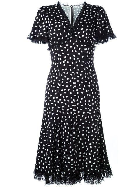 DOLCE   GABBANA Polka Dot Lace Trim Dress.  dolcegabbana  cloth  dress bb6895135f74