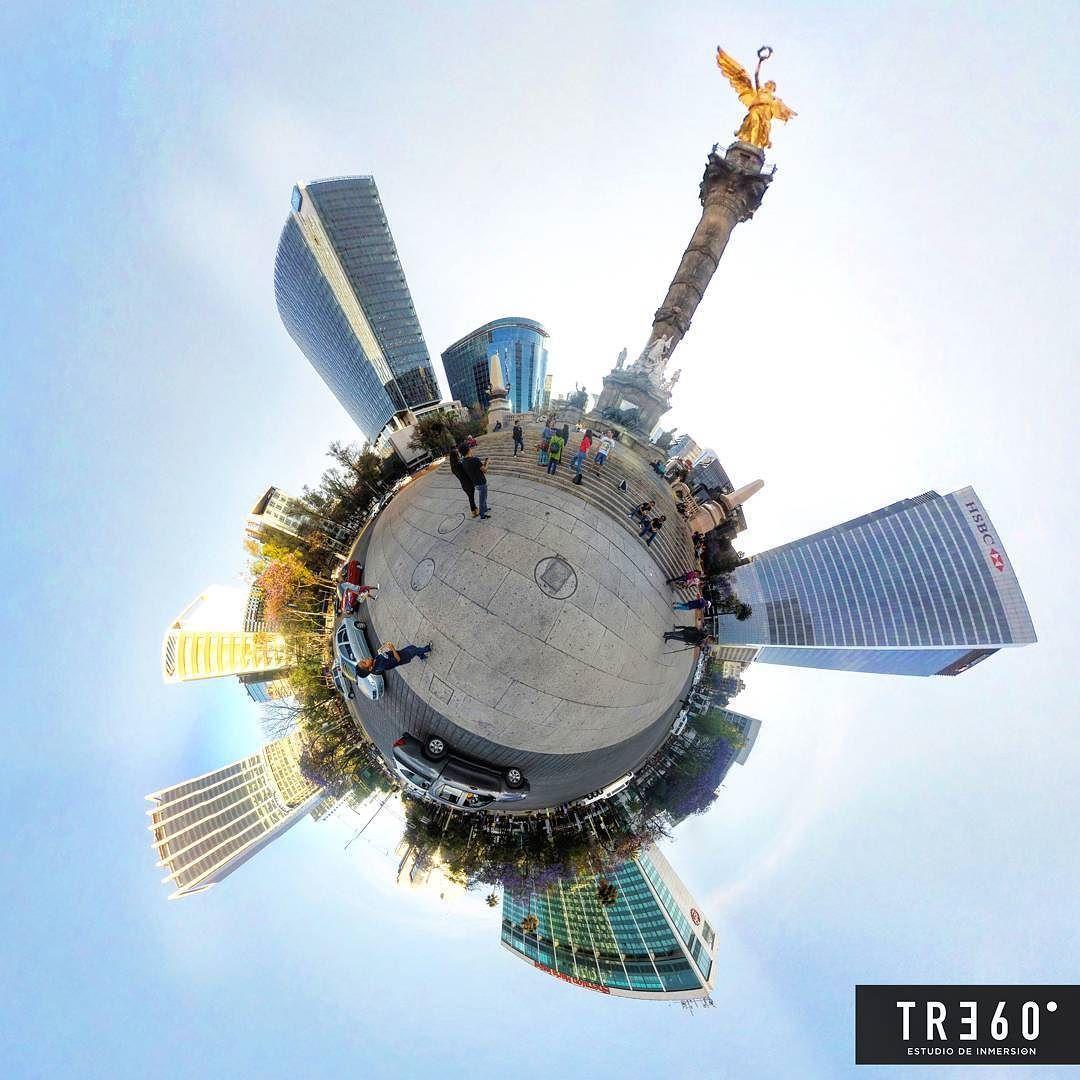 An awesome Virtual Reality pic! Antes el angel de la independencia era lo primero que se veía parado contra el cielo a ras del aire donde empiezan las nubes. Era el sueño mas acariciado de los niños de provincia en sus tardes de calma cosquillante. -Elena Paniatowska #virtualreality #video360 #360photography #360view #goprooftheday #gopro #cdmx #gearvr #oculus #360video #360 by tre60mx check us out: http://bit.ly/1KyLetq