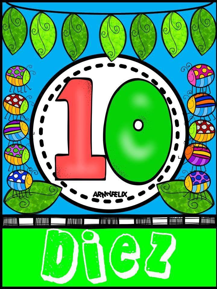Carteles Numeros 1 Al 10 10 Cartel Del 1 Al 10 Y Ensenar A Los
