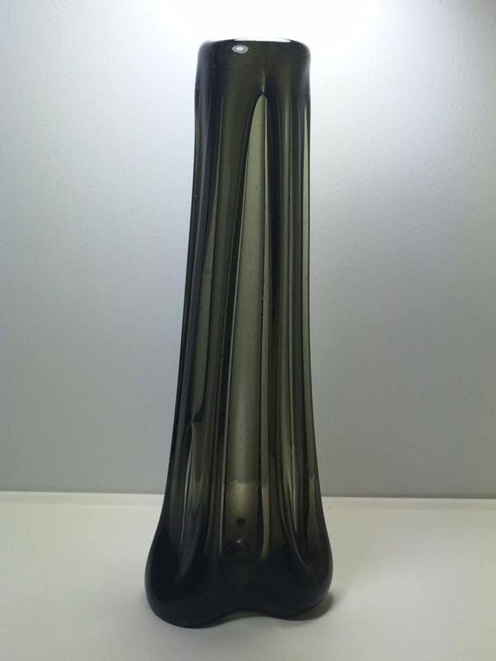Mid Century Skrdlovice Bohemian Art Glass Vase Ebay Vintage