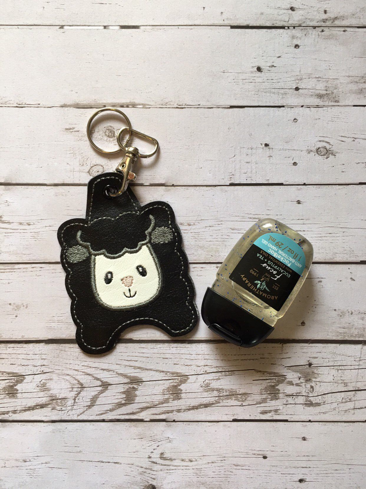 Sheep Hand Sanitizer Holder Keychain 1 Ounce Sanitizer Holder