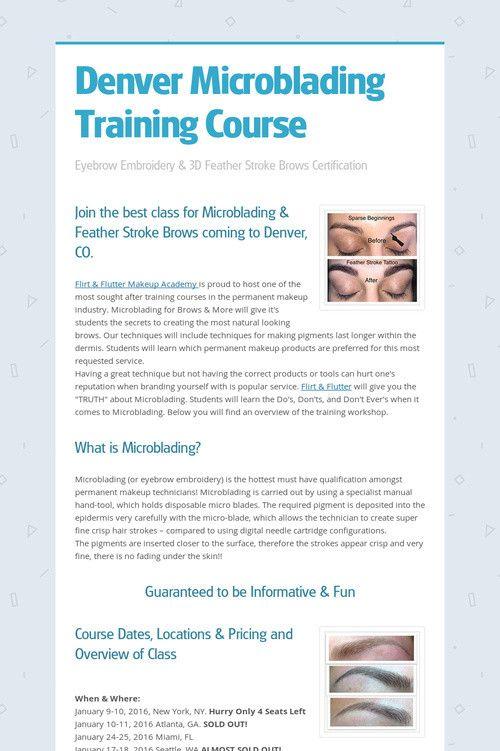 Denver Microblading Training Course | MICROBLADING TRAINING