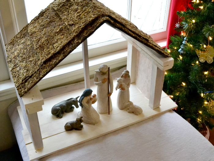 Diy Nativity Stable Nativity Stable Christmas Nativity And Holiday Decorating