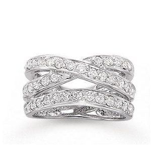 14k White Gold Crossover 1 Carat Diamond Right Hand Ring Right Hand Rings Jewelry Rings Engagement Diamond