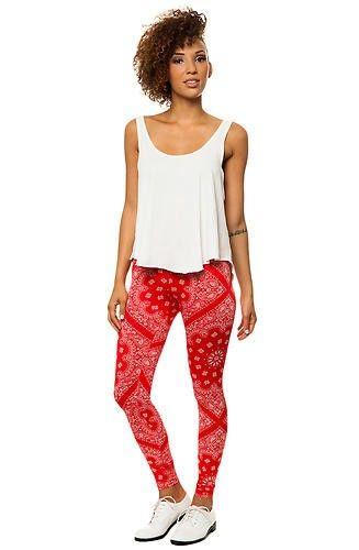 Karmaloop Style Hunter THE Bandana Leggings RED#leggings # tights www.loveitsomuch.com