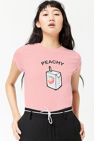 d8d496662d14 Peachy Juice Box Graphic Tee