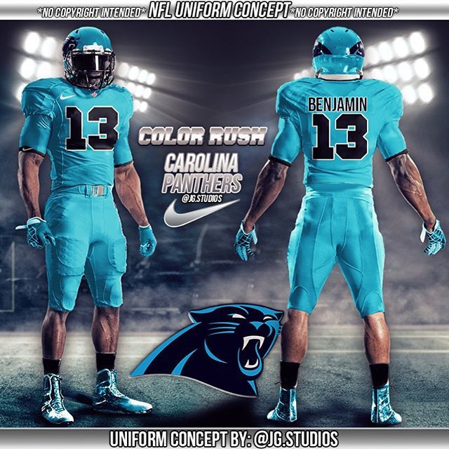 Mulpix Carolina Panthers Color Rush Uniform Concept Nfl