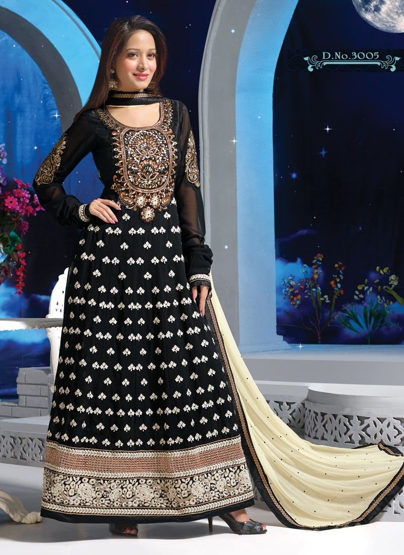 Preetika rao as aliya in beintehaa hd wallpaper free all hd - Preetika Rao Embroidery Black Floor Touch Anarkali Suit