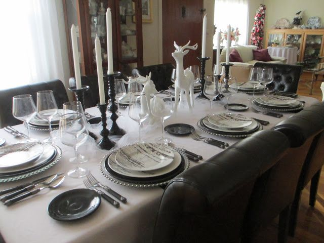 The Wel ed Guest Winter Table Winter Tablescape