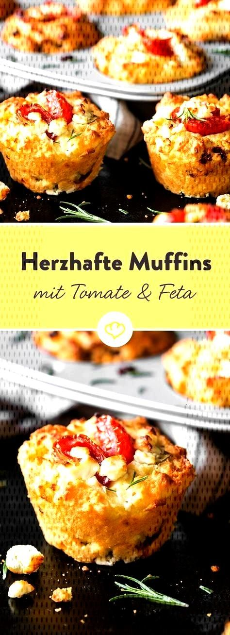 eye-catcher on your party buffet: tomato feta muffins -  Yes, muffins can also be hearty. And how!