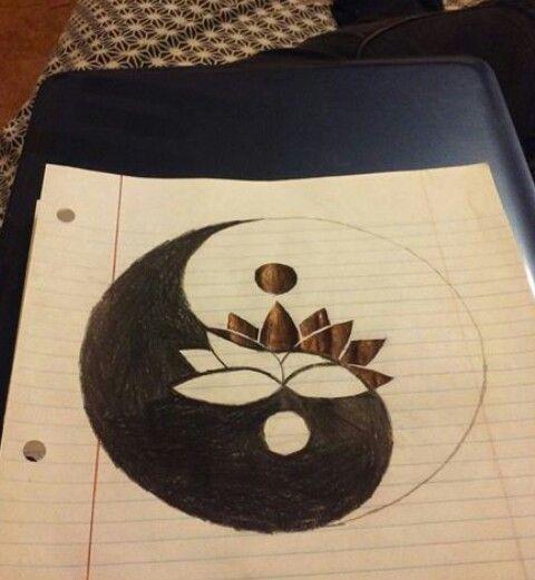 Lotus Flower Within The Yin Yang Symbol Tat Ideas Yin Yang