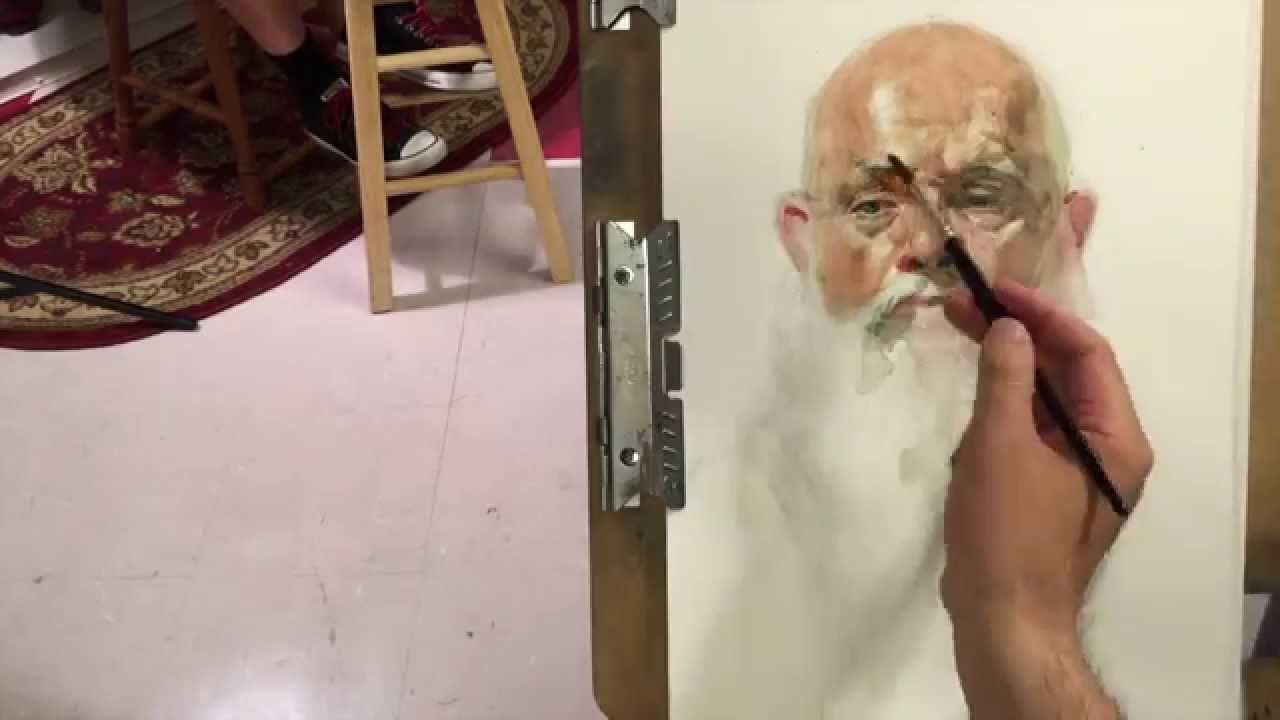 John Live Model Watercolor Painting Demo By Zimou Tan
