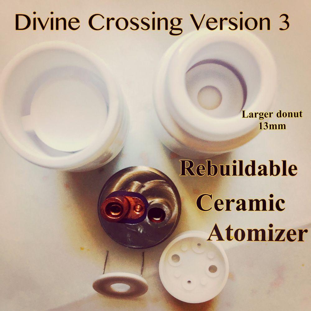 Divine Crossing Version 3 Rebuildable Ceramic Donut Atomizer TCR Ω