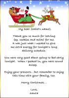 Free Printable Thank You Card From Santa  Christmas Printables