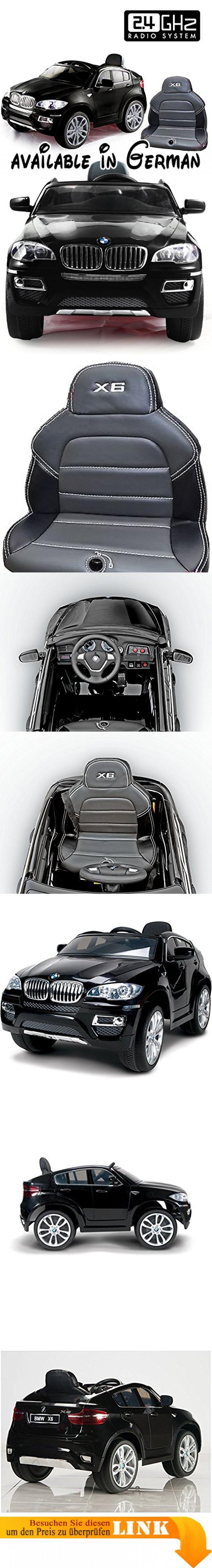 BMW X6 Schwarz, Original Linzensiert Kinderfahrzeug, Kinder Elektroauto, Kinderauto mit genähte Ledersitz, 2x Motor, 12-V-Batterie, mit 2,4 GHz Bluetooth Fernbedienung, Sanftanlauf. ABSOLUT NEU AUF DEM MARKT! Mit genähte Ledersitz! ORIGINAL LIZENZ BMW X6 elektrische Kinderfahrzeug mit Fernsteuerung und das Öffnen der Tür!. Drive - 2x motor/12V (Antrieb der beiden Hinterräder). Fernbedienung für Eltern - ein Vorteil, wenn ein Kind nicht alleine fahren. Für Kinder ab
