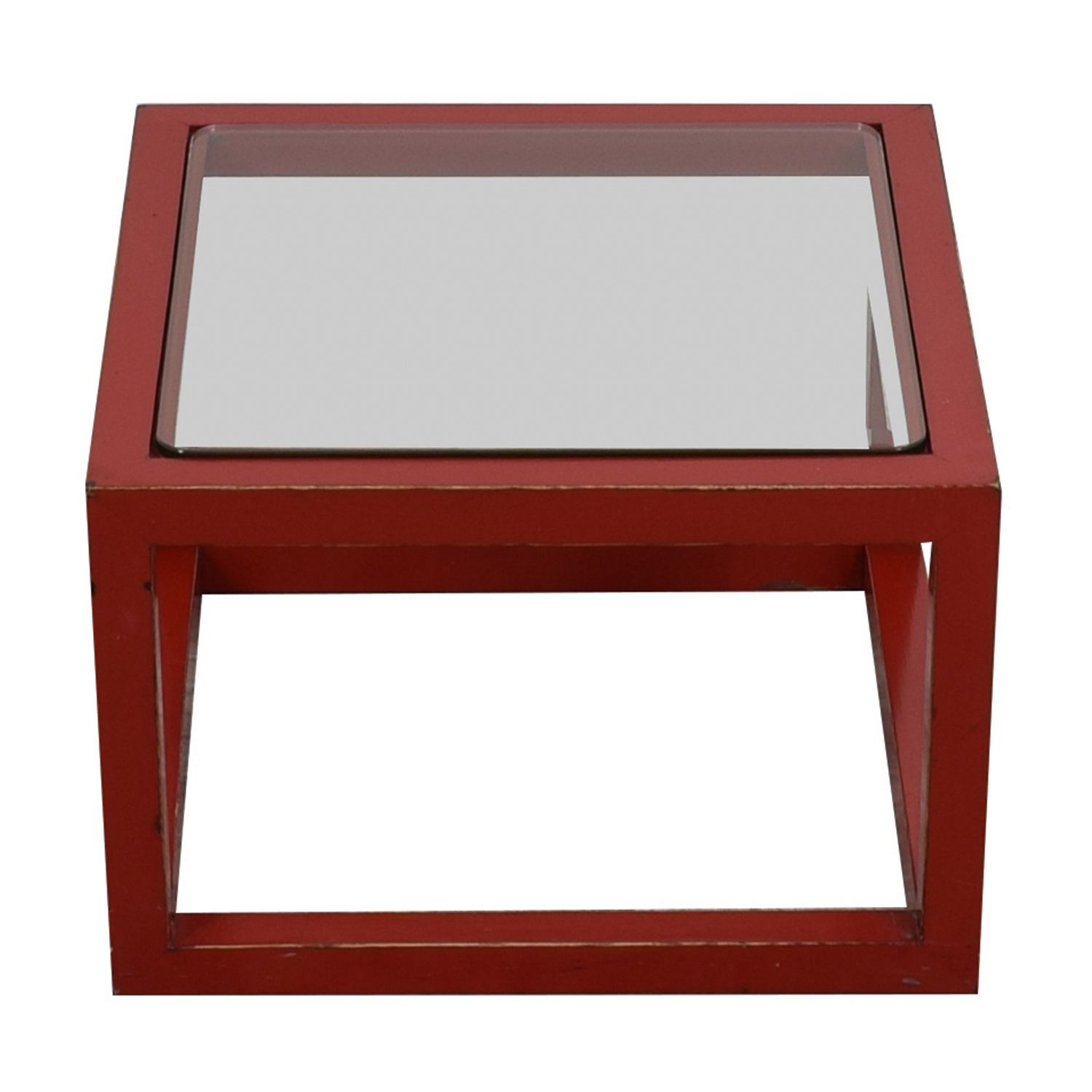crate and barrel coffee table glass