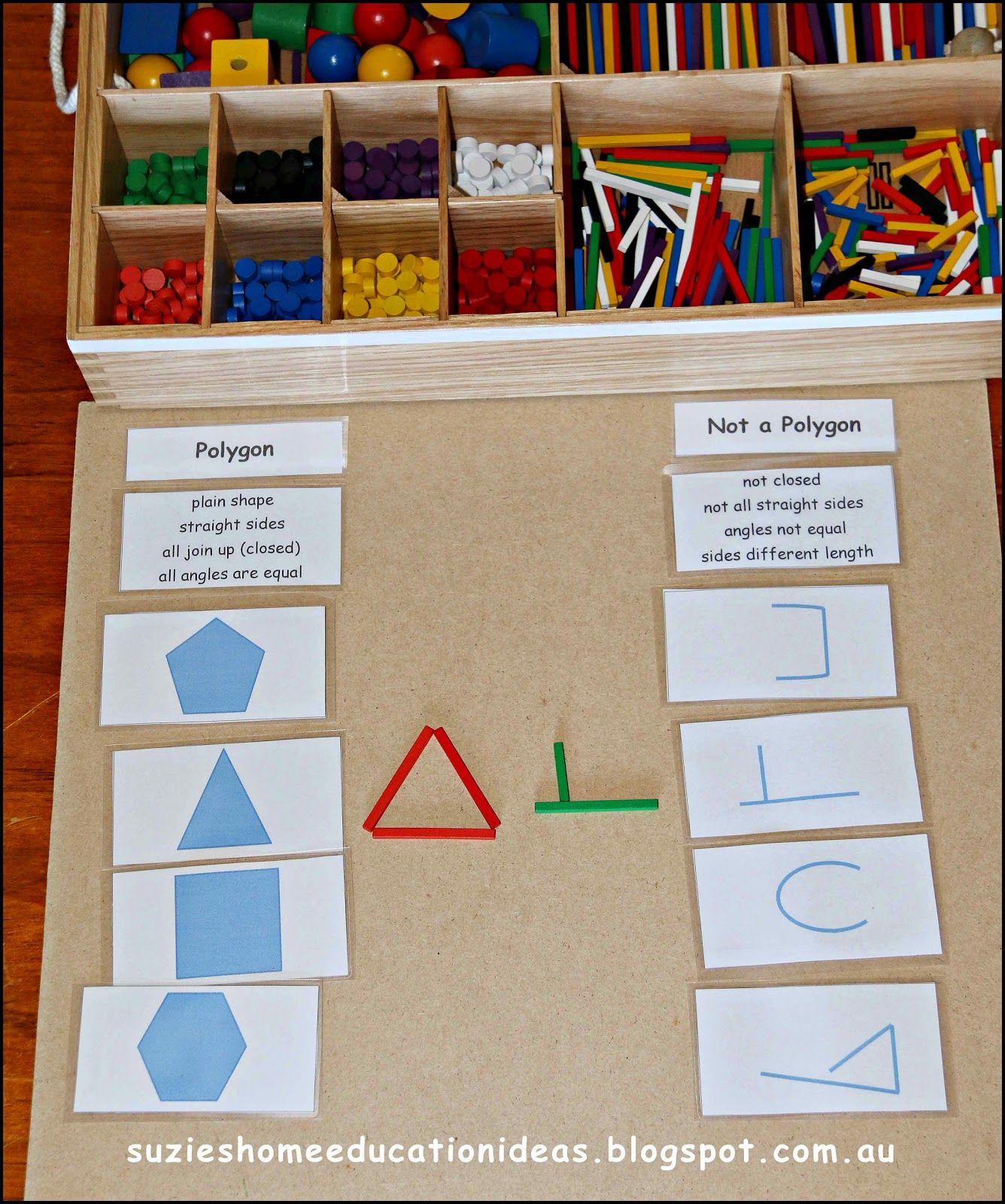 Suzie S Home Education Ideas Polygons
