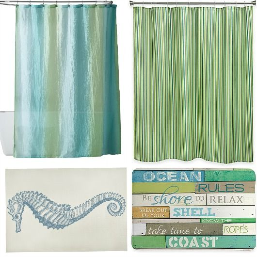 Blue And Green Shower Curtain Bath Rug Combo Ideas Httpwww - Turquoise bath rugs for bathroom decorating ideas