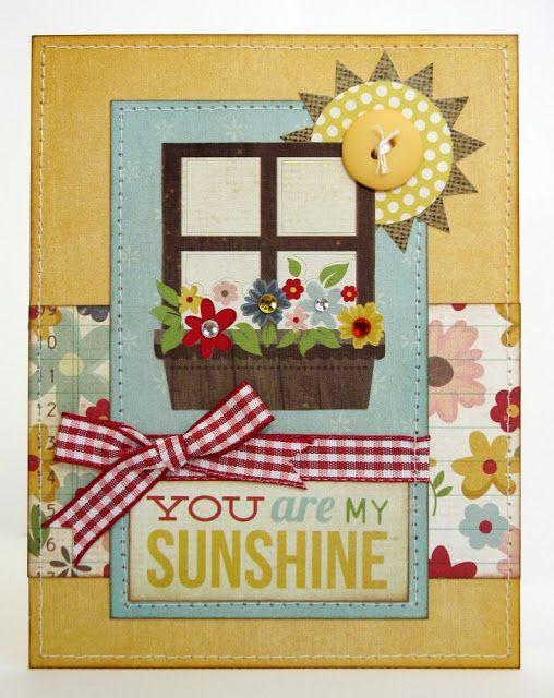 Snippets By Mendi: A Simple Stories Summer Fresh Card.